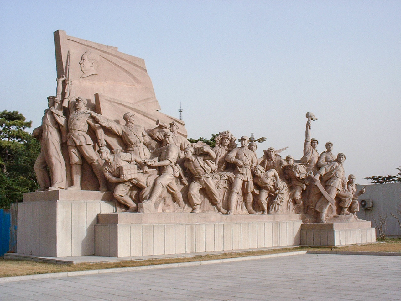 Monument in front of Mao's Mausoleum